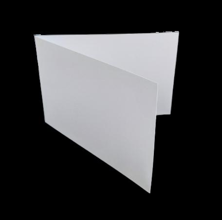 Dubbele kaart liggend 11 x 34 cm Wit per 25 stuks