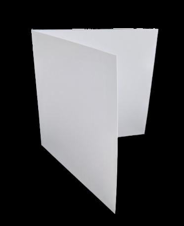 Dubbele kaart vierkant 13 x 26 cm Wit per 25 stuks