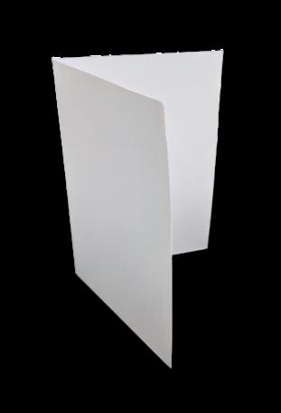Dubbele kaart staand 17 x 23 cm Wit per 25 stuks
