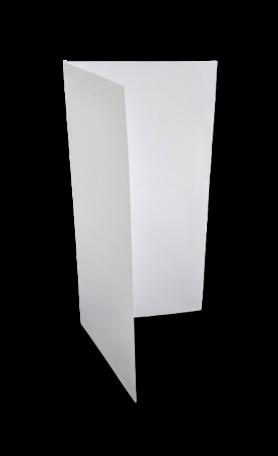 Dubbele kaart staand 18 x 18 cm Wit per 25 stuks