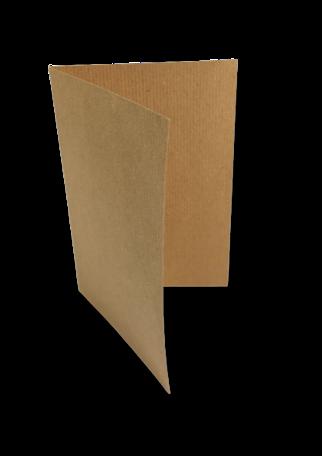 Dubbele kaart staand 15 x 21 cm Kraft Bruin per 25 stuks