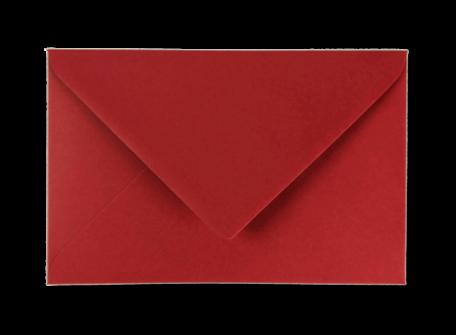 Envelop 12 x 18,5 cm Bloedrood