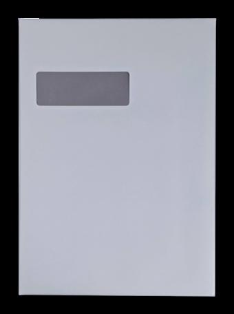 Vensterenvelop C4 22,9 x 32,4 cm Recycled Wit per doos