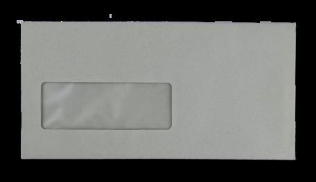 Vensterenvelop C5/6 11,4 x 22,9 cm Grijs per doos