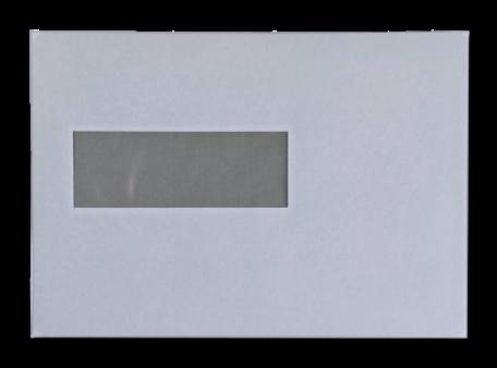 Vensterenvelop EA5 15,6 x 22 cm Wit per doos