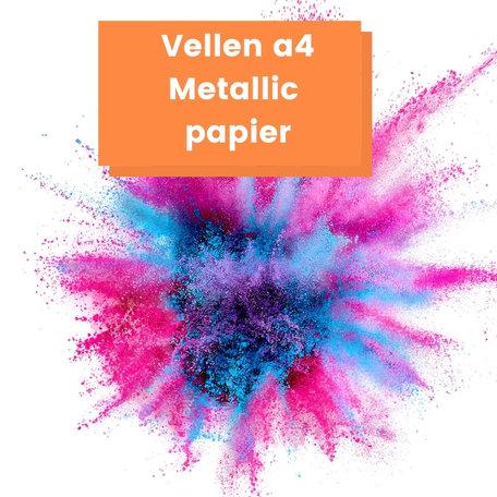 Gekleurd papier Metallic a4 120 gram
