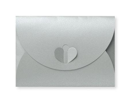 Cadeau Envelop 8 x 11,4 cm Metallic Zilver