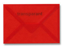 Envelop 11 x 15,6 cm Transparant Rood
