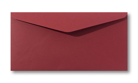 Envelop 11 x 22 cm  Retro rood