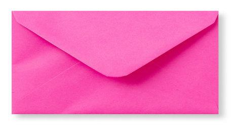 Envelop 11 x 22 cm Knalroze