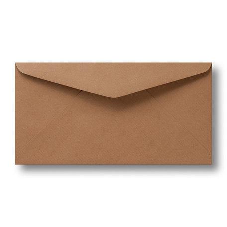 Envelop 11 x 22 cm Kraft bruin