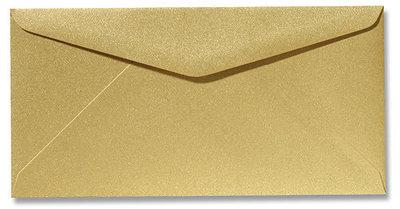Envelop 11 x 22 cm Metallic Goud