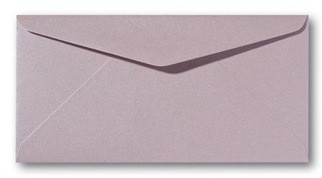 Envelop 11 x 22 cm Metallic Rose