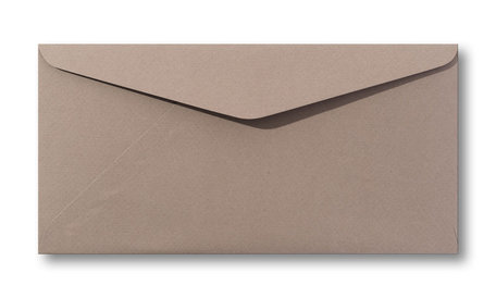 Envelop 11 x 22 cm Zandbruin