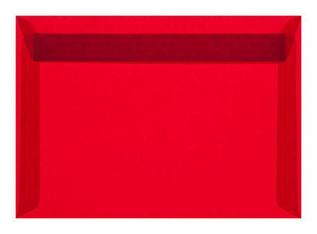 Envelop 11,4 x 16,2 transparant rood ( c6 )