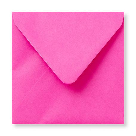 Envelop 12 x 12 cm Knalroze
