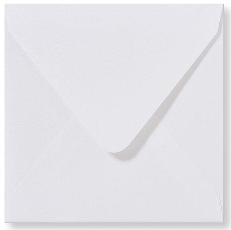Envelop 12 x 12 cm Metallic Extra White