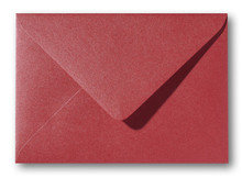Envelop 12 x 18 cm Metallic Rosso