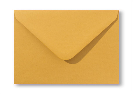 Envelop 12 x 18 cm Oker geel