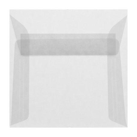 Envelop 12,5 x 12,5 cm transparant wit