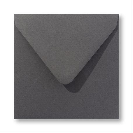 Envelop 12,5 x 14 cm Antraciet grijs
