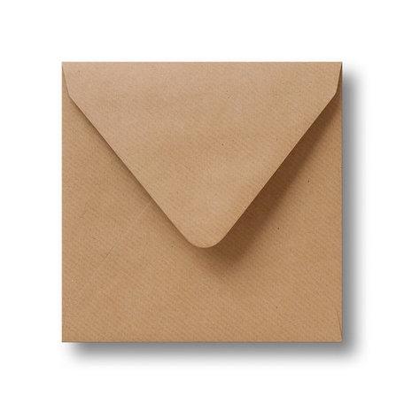 Envelop 12,5 x 14 cm Kraft lichtbruin
