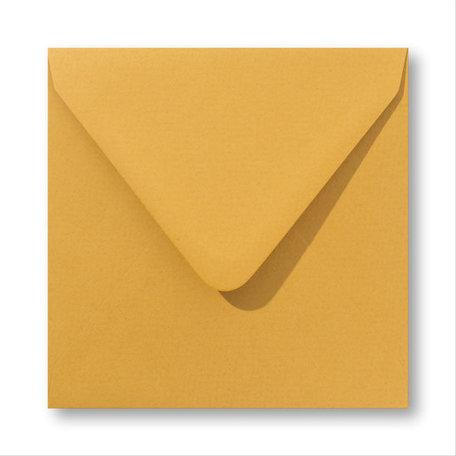 Envelop 12,5 x 14 cm Oker geel