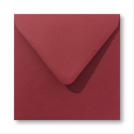 Envelop 12,5 x 14 cm Retro Rood