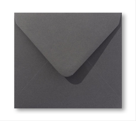 Envelop 14 x 14 cm Antraciet grijs