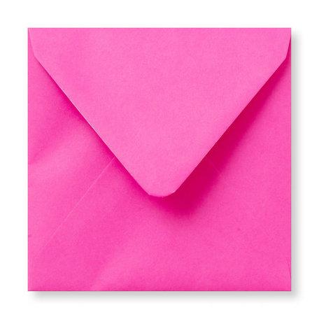 Envelop 14 x 14 cm Knalroze