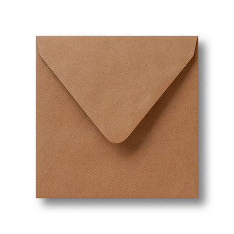 Envelop 14 x 14 cm Kraft Bruin