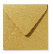 Envelop 14 x 14 cm Metallic Goud