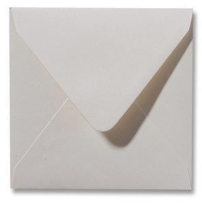 Envelop 14 x 14 cm Metallic Ivory