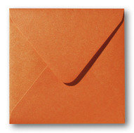 Envelop 14 x 14 cm Metallic Orange Glow