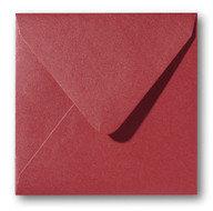 Envelop 14 x 14 cm Metallic Rosso