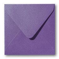 Envelop 14 x 14 cm Metallic Violet