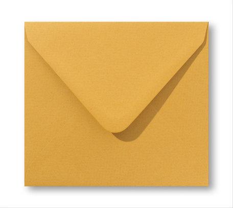 Envelop 14 x 14 cm Oker geel