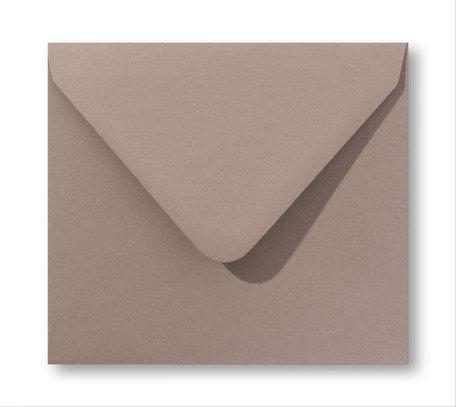 Envelop 14 x 14 cm Zandbruin