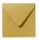 Envelop 16 x 16 cm Metallic Goud
