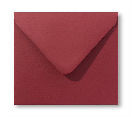 Envelop 16 x 16 cm Retro rood