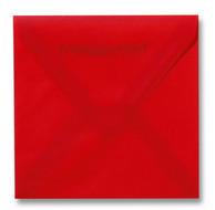 Envelop 16 x 16 cm Transparant Rood
