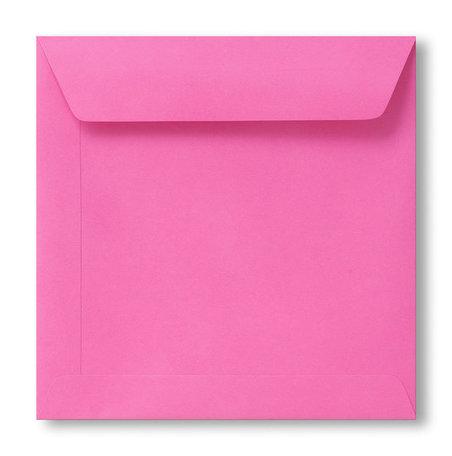 Envelop 17 x 17 cm Knalroze