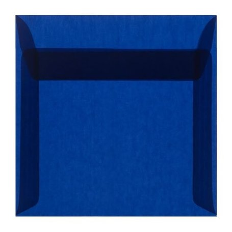 Envelop 17 x 17 cm transparant donkerblauw