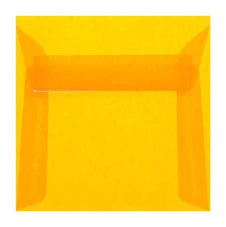 Envelop 17 x 17 cm transparant oranje
