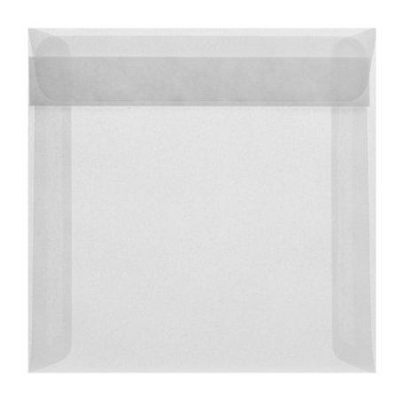 Envelop 17 x 17 cm transparant wit