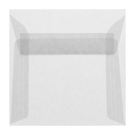 Envelop 22 x 22 cm transparant wit