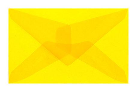 Envelop 62 x 98 cm transparant geel