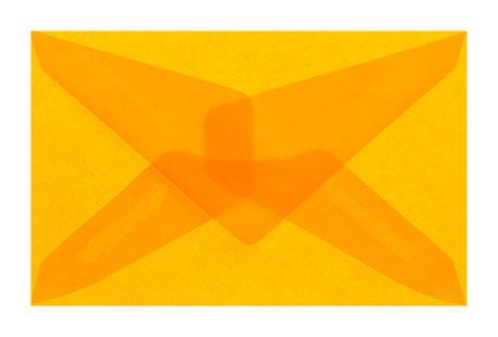 Envelop 6,2 x 9,8 cm transparant oranje