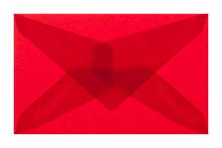 Envelop 6,2 x 9,8 cm transparant rood