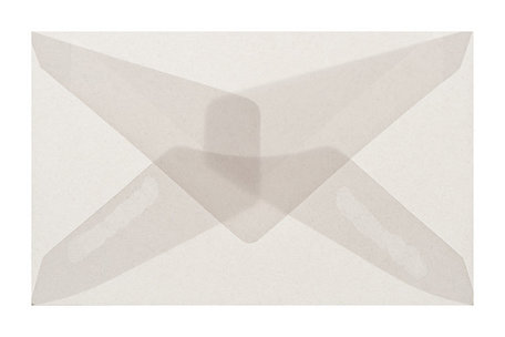 Envelop 62 x 98 cm transparant wit